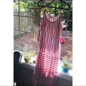 Elegant Striped Linen Maxi Dress